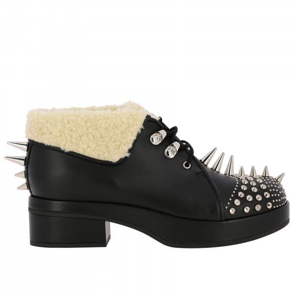 Gucci Victor 内部人造羊毛里衬铆钉装饰真皮短靴