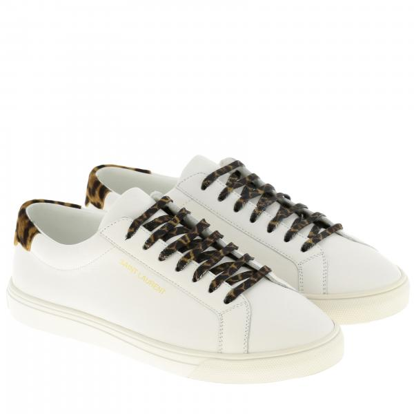 Laurent Con Maculato 0zs30 Sneakers Tallone Donna Saint 582401 BiancoPelle SVUzpM