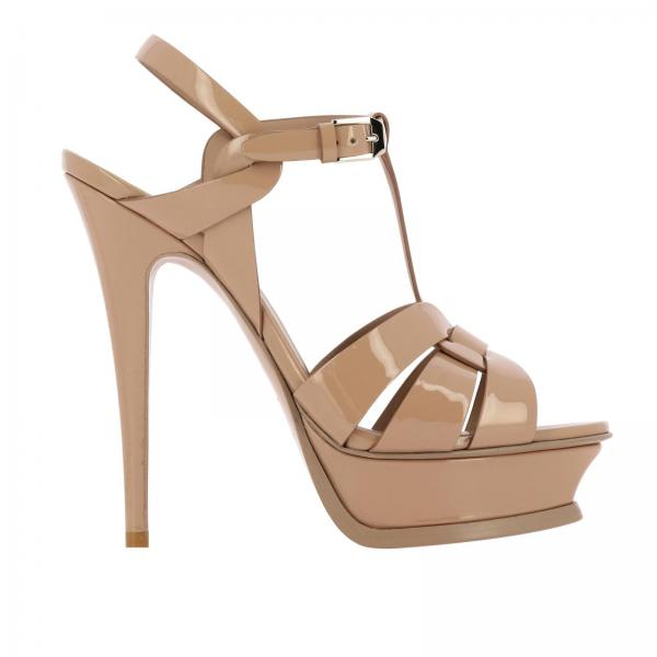 Saint Laurent Tribute Lackleder Sandal