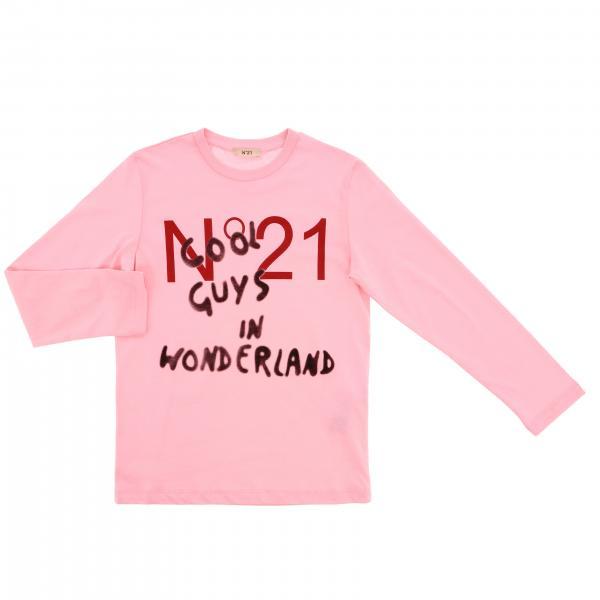 T-shirt N° 21 a maniche lunghe con logo