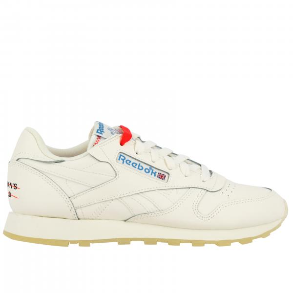 Sneakers Cl lthr stringata in pelle con logo Reebok