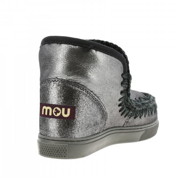Stivaletti Donna Mou Nero | Eskimo Sneakers Stivaletto Basso Montone Lurex | Stivaletti Mou Eskimo Sneakers