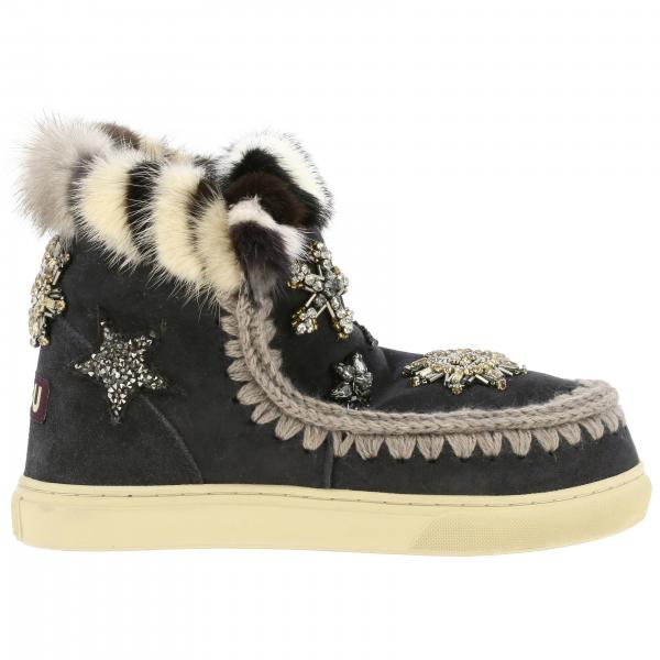 Bottines plates Mou ESKIMO SNEAKERS STARS PATCH