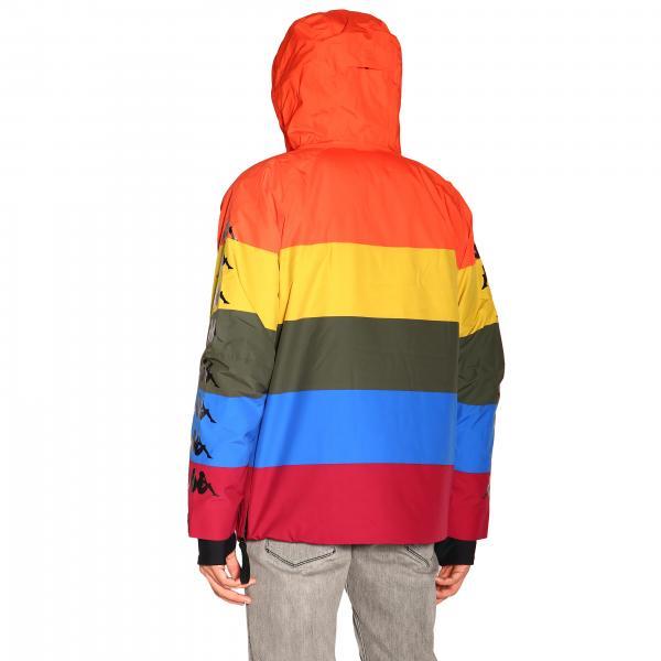 Nylon E Bande Con Kappa 304qpb0 Uomo Cappuccio FisiDi Giacca Multicolor 9YWHIE2beD