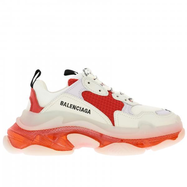 Sneakers Triple S Balenciaga in pelle con fondo in gomma