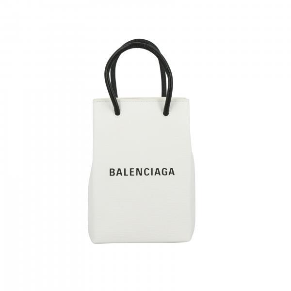 Borsa mini Balenciaga in pelle con logo e tracolla