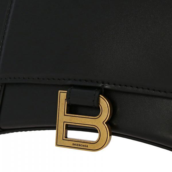 Logo In 593546 Pelle Con Balenciaga S Handle A 1jh1m Donna Mano Borsa NeroHourTop pUMGLqzSV
