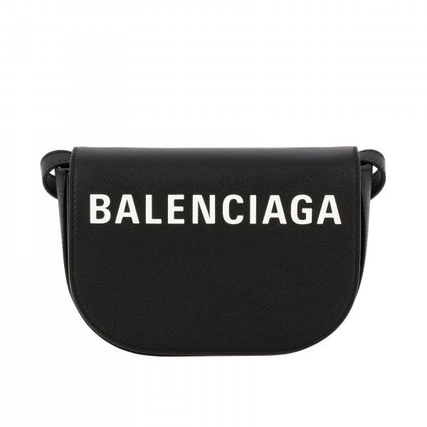 Borsa Ville day Balenciaga in pelle con logo
