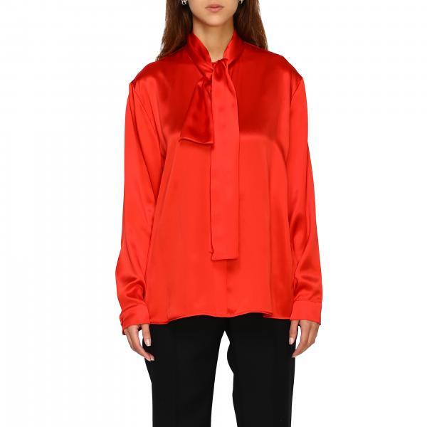 Рубашка Balenciaga из шелка с бантом