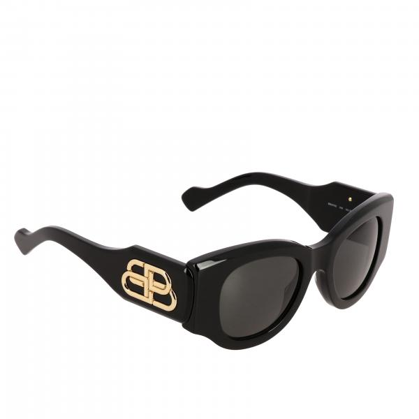 Occhiali Paris cat Balenciaga in acetato con logo BB