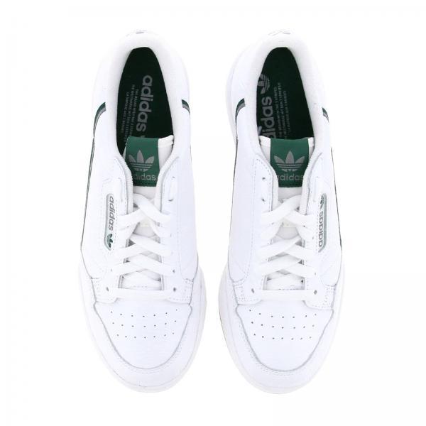 Sneakers Uomo Adidas Originals Bianco | Sneakers Continental 80s Adidas Originals In Pelle Con Dettagli A Contrasto | Sneakers Adidas Fv2873