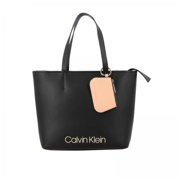 Borsa Ck must Calvin Klein in pelle ecologica con logo metallico