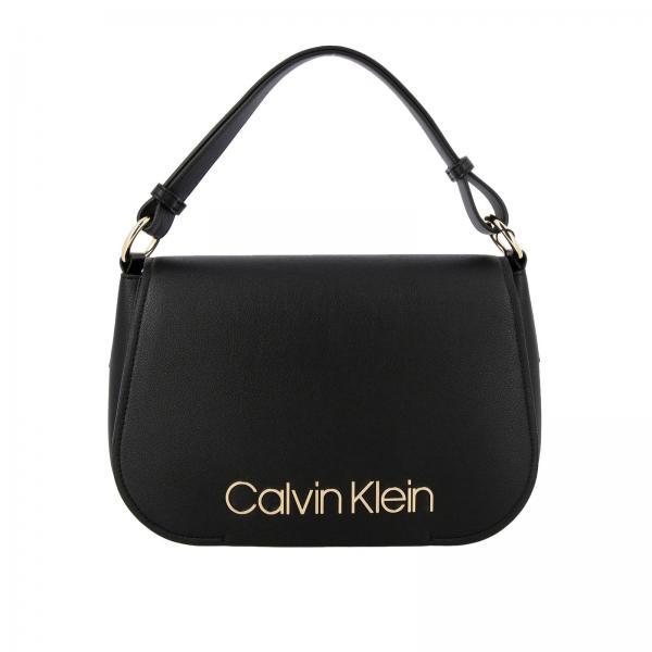 Borsa Dressed up Calvin Klein in pelle ecologica con maxi logo metallico