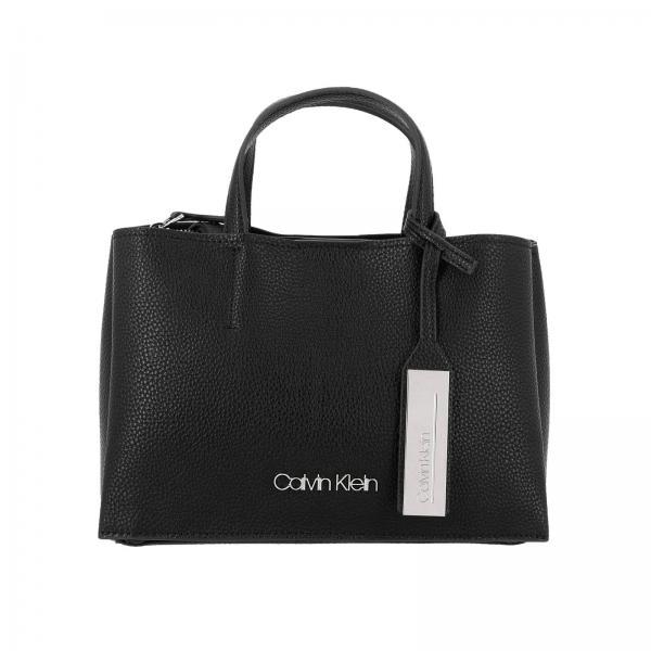 Borsa Sided Calvin Klein media in pelle ecologica martellata con tracolla