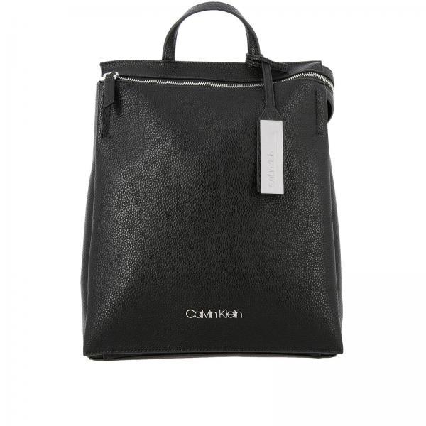 Zaino Sided Calvin Klein in pelle ecologica martellata con zip