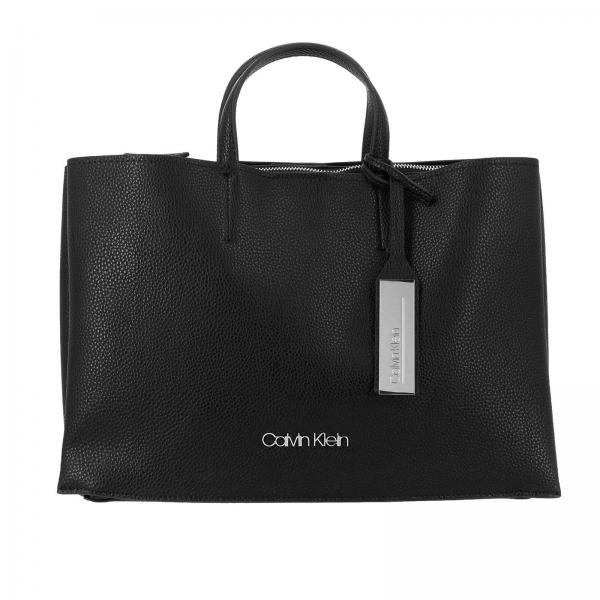 Borsa Sided Calvin Klein large in pelle ecologica martellata