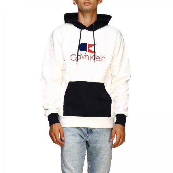 Calvin Klein sweatshirt with hood and vintage logo