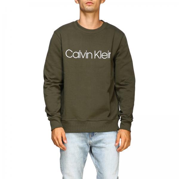 Felpa Calvin Klein a girocollo con logo