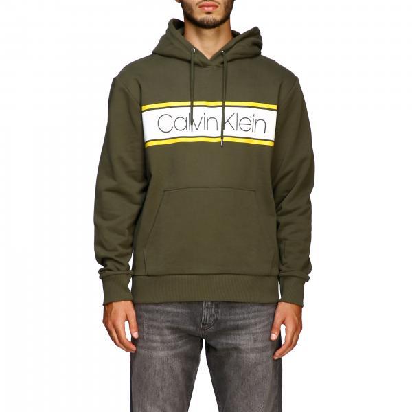 Calvin Klein sweatshirt with hood and maxi logo