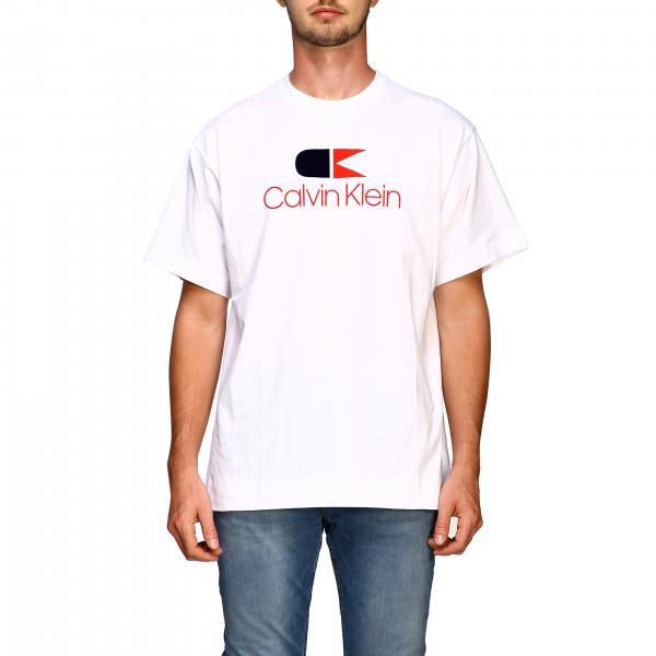 T-shirt with maxi Calvin Klein vintage print