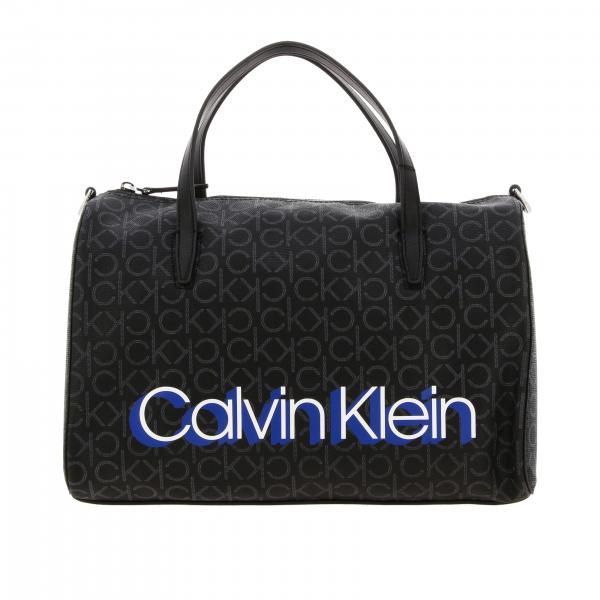 Bauletto Monogram Calvin Klein in pelle ecologica logata con stampa