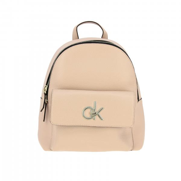 Clavin Klein Re-lock backpack in eco-leather with maxi CK monogram