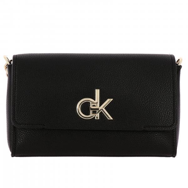 Borsa Calvin Klein Re-lock in pelle sintetica con logo