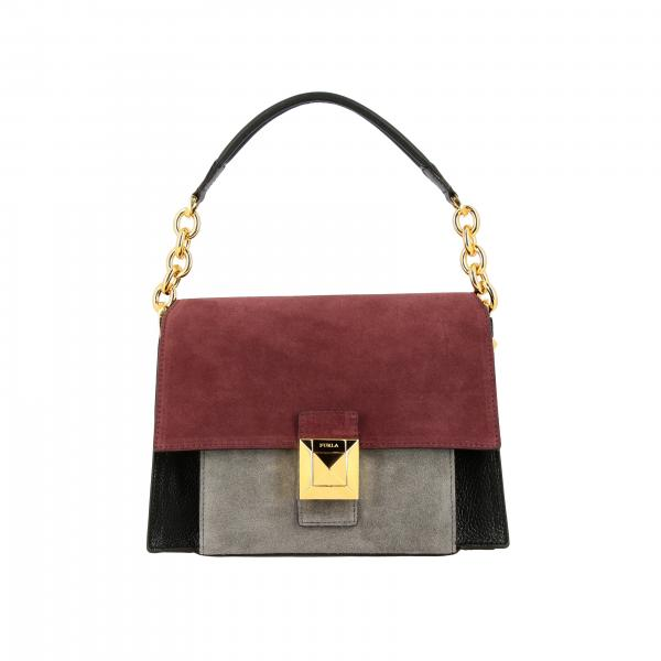 Diva Furla bag in tricolor leather with handle and shoulder strap