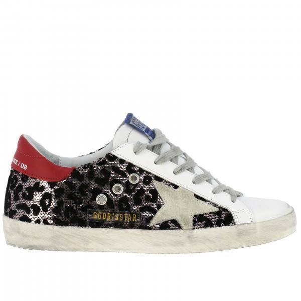 Pelle FantasiaSuperstar Donna R82 Goose Sneakers Golden Animalier G35ws590 Paillettes E In Y67Ibymfvg
