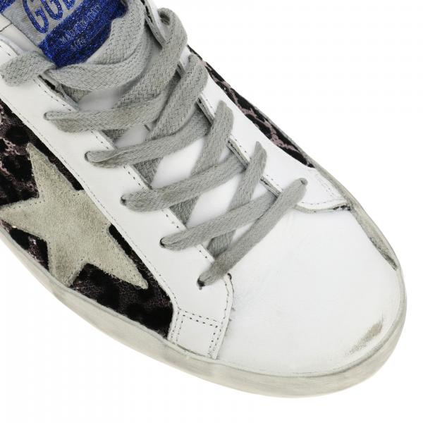 E R82 FantasiaSuperstar Animalier Pelle Goose In Paillettes Golden Donna Sneakers G35ws590 b7ygYf6v