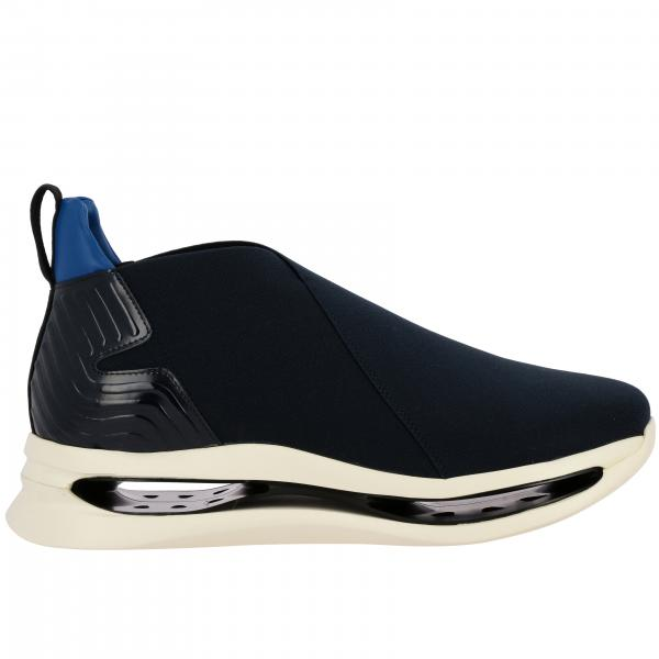 Sneakers Arkistar slip on in tessuto stretch tecnico e pelle con suola in gomma Eva
