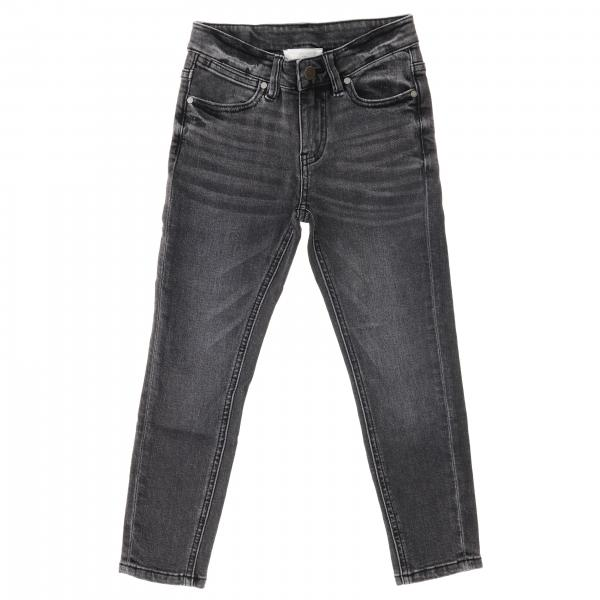 Denim used slim con ricamo dietro