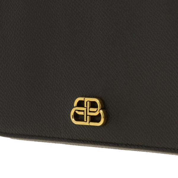 Borsa Donna Logo Balenciaga NeroIn Pelle 601392 Mini Con 0otxm UMSqzVp