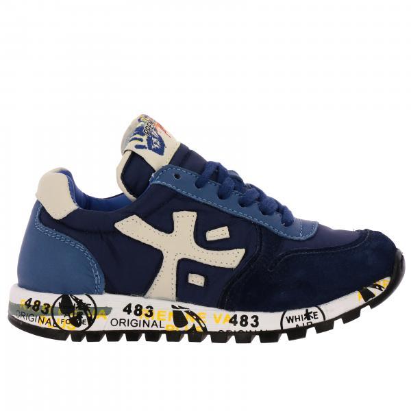 Sneakers Mick Premiata in camoscio e nylon