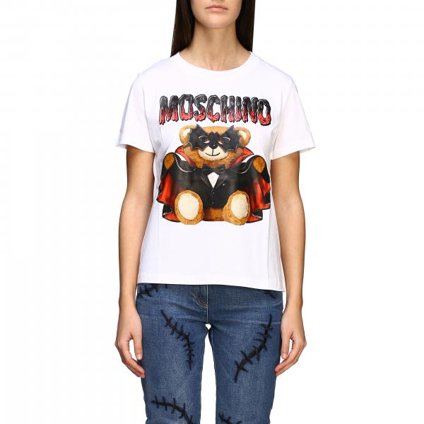 Moschino Couture T-Shirt mit bat Teddy