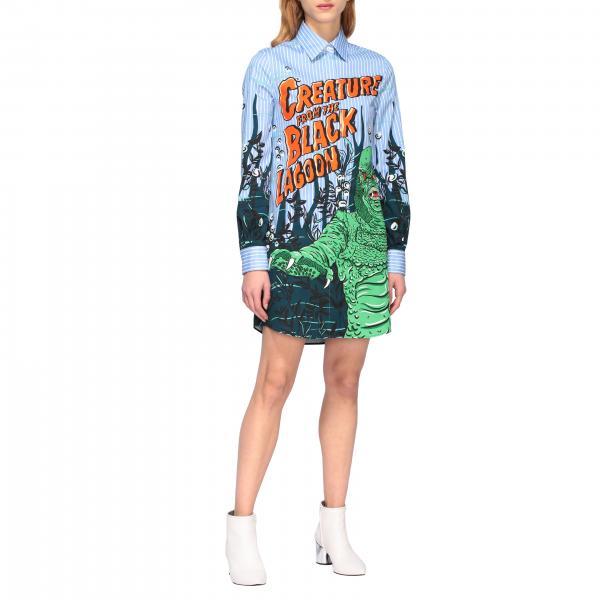 Moschino Couture 印花衬衫式连衣裙