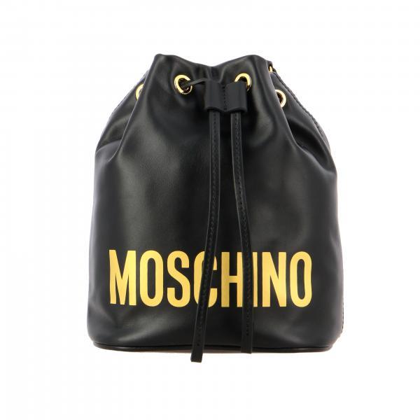 Moschino Couture Ledertasche mit aufgedrucktem Logo