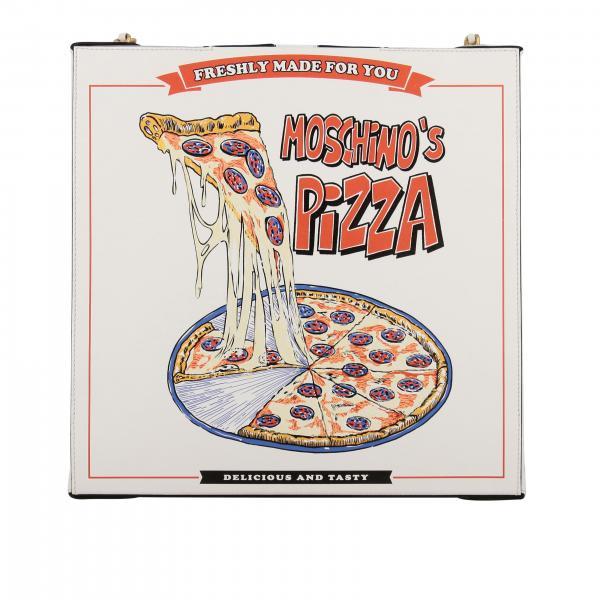 Moschino Couture Pizzakarton Umhängetasche aus Leder