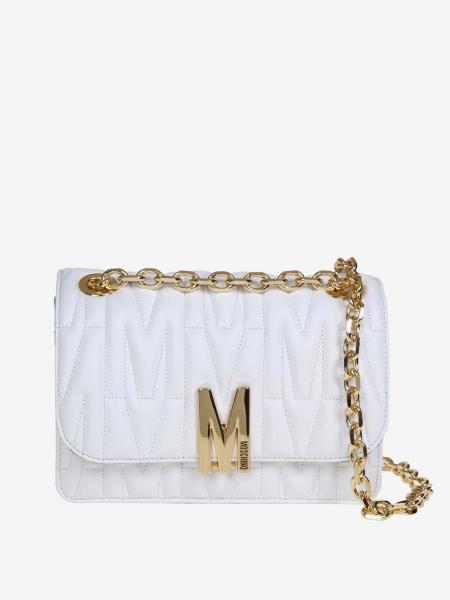 Moschino Couture logo 真皮绗缝斜挎包