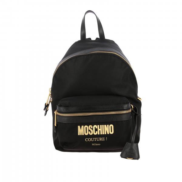 Рюкзак из нейлона с логотипом Женское Moschino Couture
