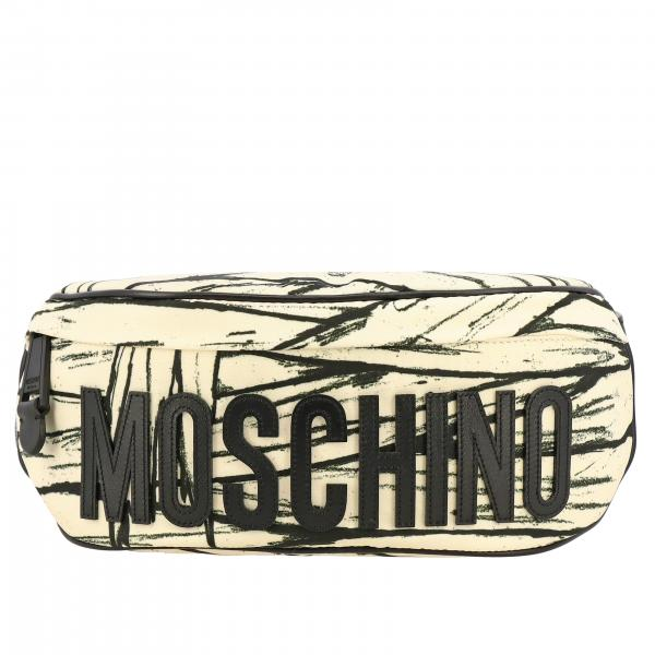 Marsupio Moschino Couture in nylon stampa mummia con big logo