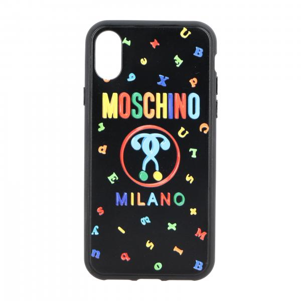 Iphone X Moschino Couture cover with lettering and Recycle logo