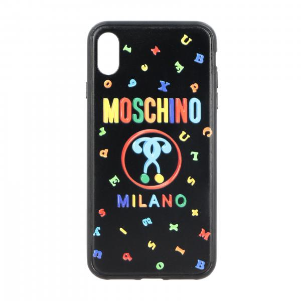 Iphone XS Max Moschino Couture Cover with Recycle lettering and logo