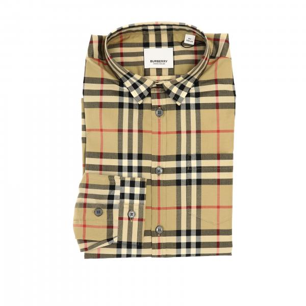 Camicia Burberry in cotone check