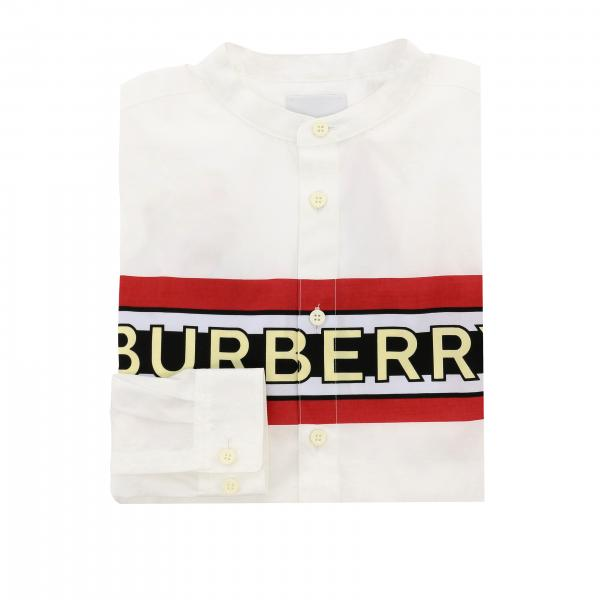 Burberry poplin shirt with band and logo