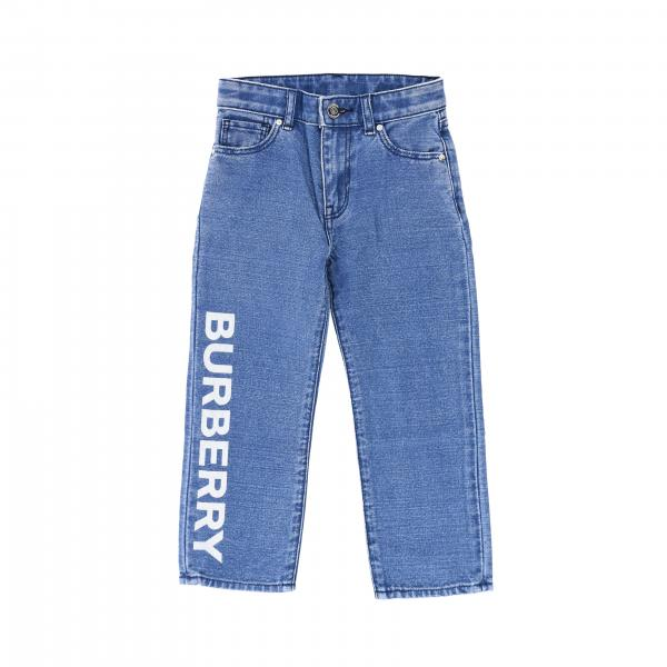 Jeans Burberry in denim con logo stampato