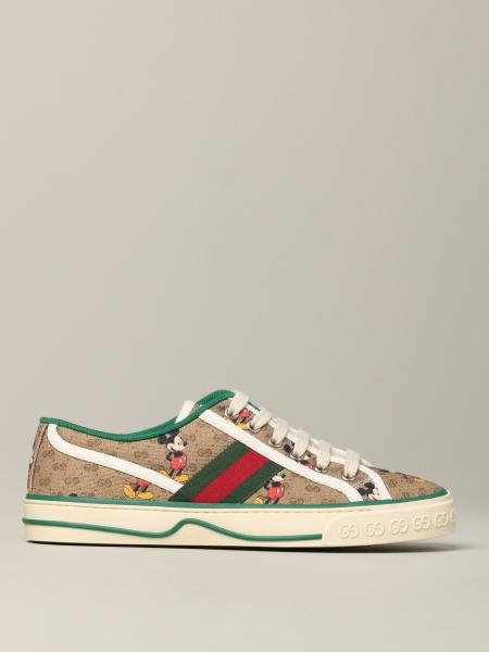 Gucci Tennis 1977 Capsule Collection sneakers Disney x Gucci with mickey mouse print