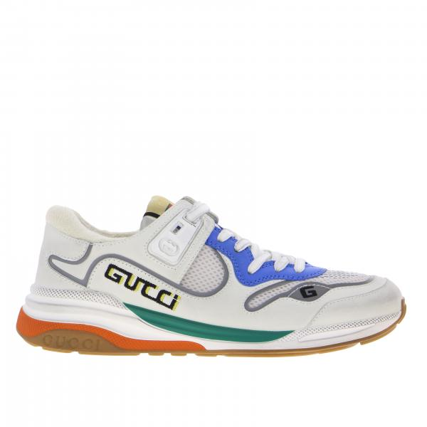 Gucci G line sneakers in suede and mesh with logo