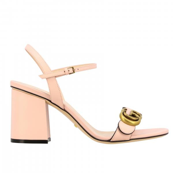 Gucci Marmont sandal in leather with monogram
