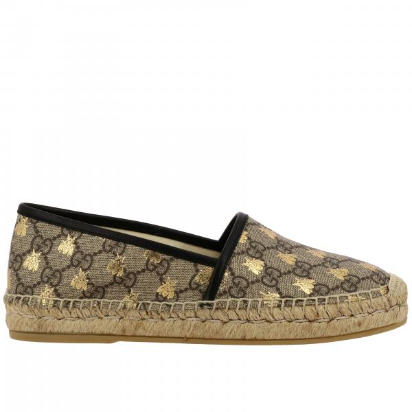 Espadrillas Pilar Gucci in pelle GG Supreme con stampa ape all over